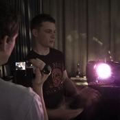Dan Brown (Guitar) gives his opinions to Craigo.